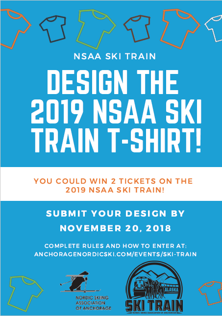 design the nsaa ski train t shirt and win 2 tickets to ride the nsaa