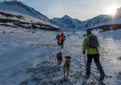3rd Place Touring/Backcountry Skiing: Skiing to Williwaw Lake by David Ward
