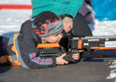 Young shooter; Ski 4 Kids 2019 by Jen Aist