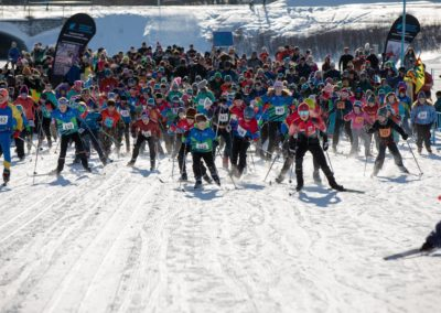 Mass start: Ski 4 Kids 2019 by Jen Aist