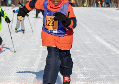 Finish strong! Ski 4 Kids 2019 by Jen Aist