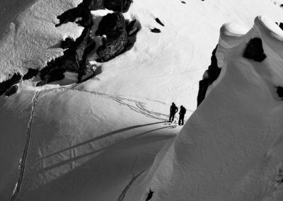 2nd Place Touring/Backcountry Skiing: Anticipation: Waiting to drop in near Microdot at Hatcher Pass by Adam Loomis