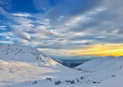 1st Place Touring/Backcountry Skiing: A golden-glowing mine (Hatcher Pass) by Liam Hood