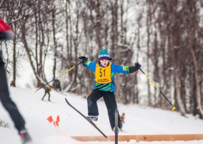 2nd Place Jumping: Junior Nordic-er catching some air at AMH Cup by Addy Wright
