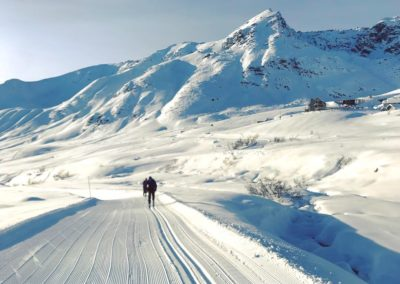 1st Place Groomed Trail: Enjoying the fresh corduroy at Hatcher Pass Mine by Elizabeth Knapp