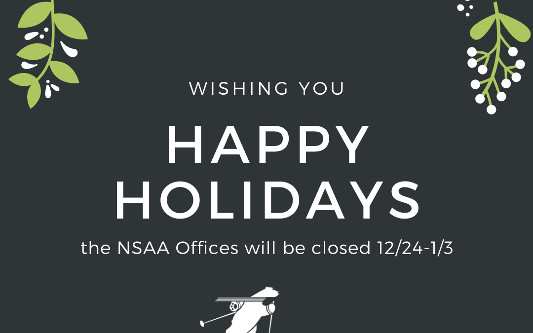 NSAA Closed for the Holidays